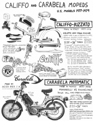 Carabella (made by Acer-Mex) and Rizzato Califfo