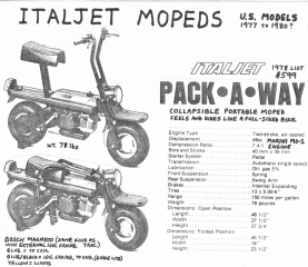 Italjet Pack-A-Way (made in Italy)