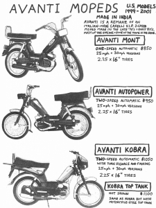 Avanti 2001 Mont, Autopower, Kobra (made by Mont, India)