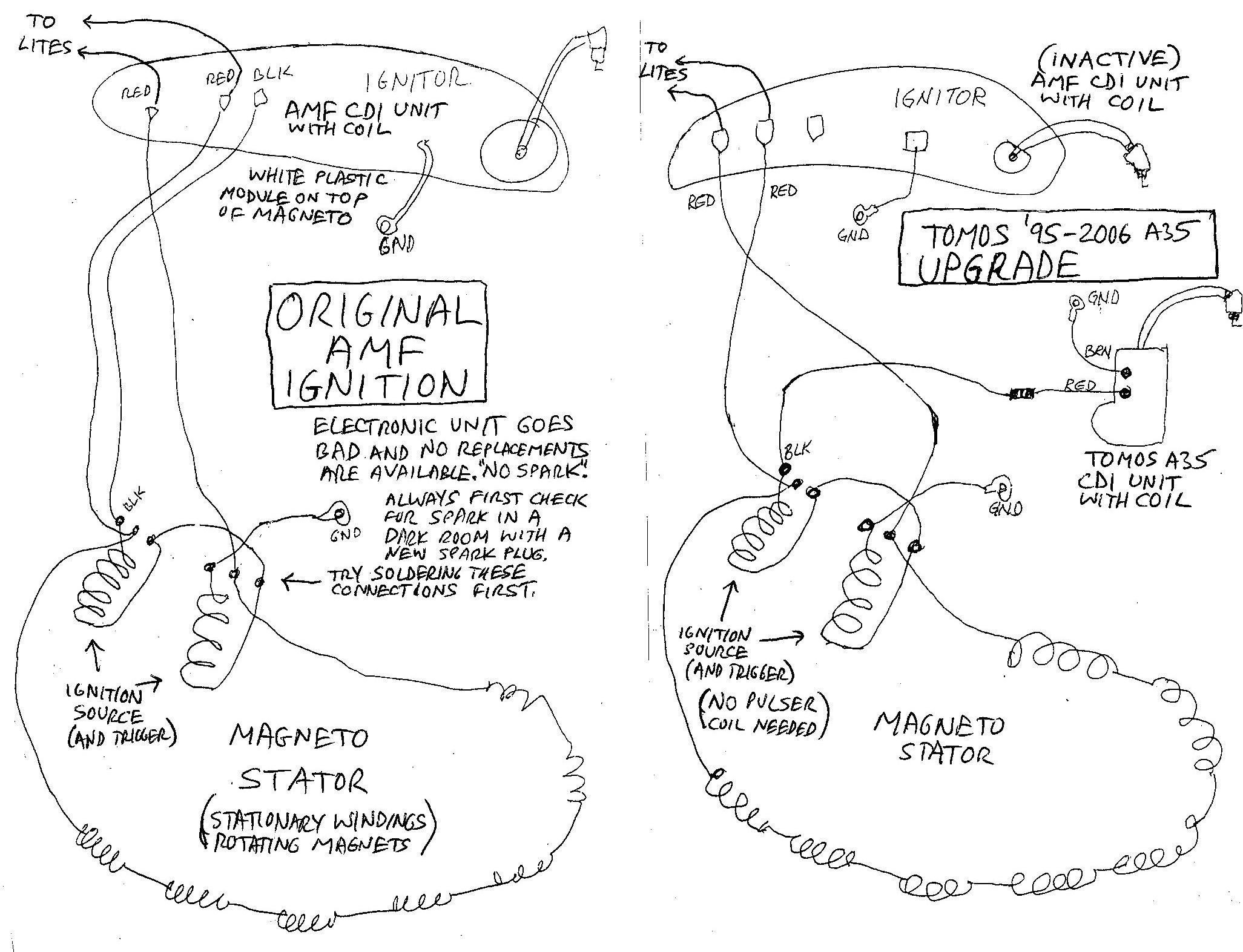 amf roadmaster moped wiring diagram 1978 honda moped