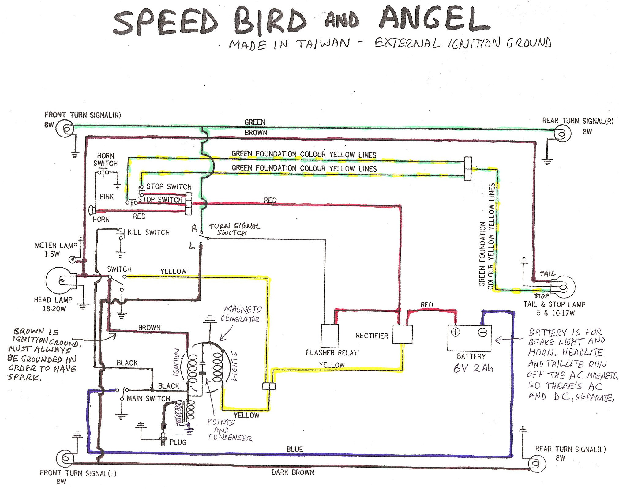 angel parts myrons mopeds rh myronsmopeds com Wiring Diagram Symbols 3-Way Switch Wiring Diagram