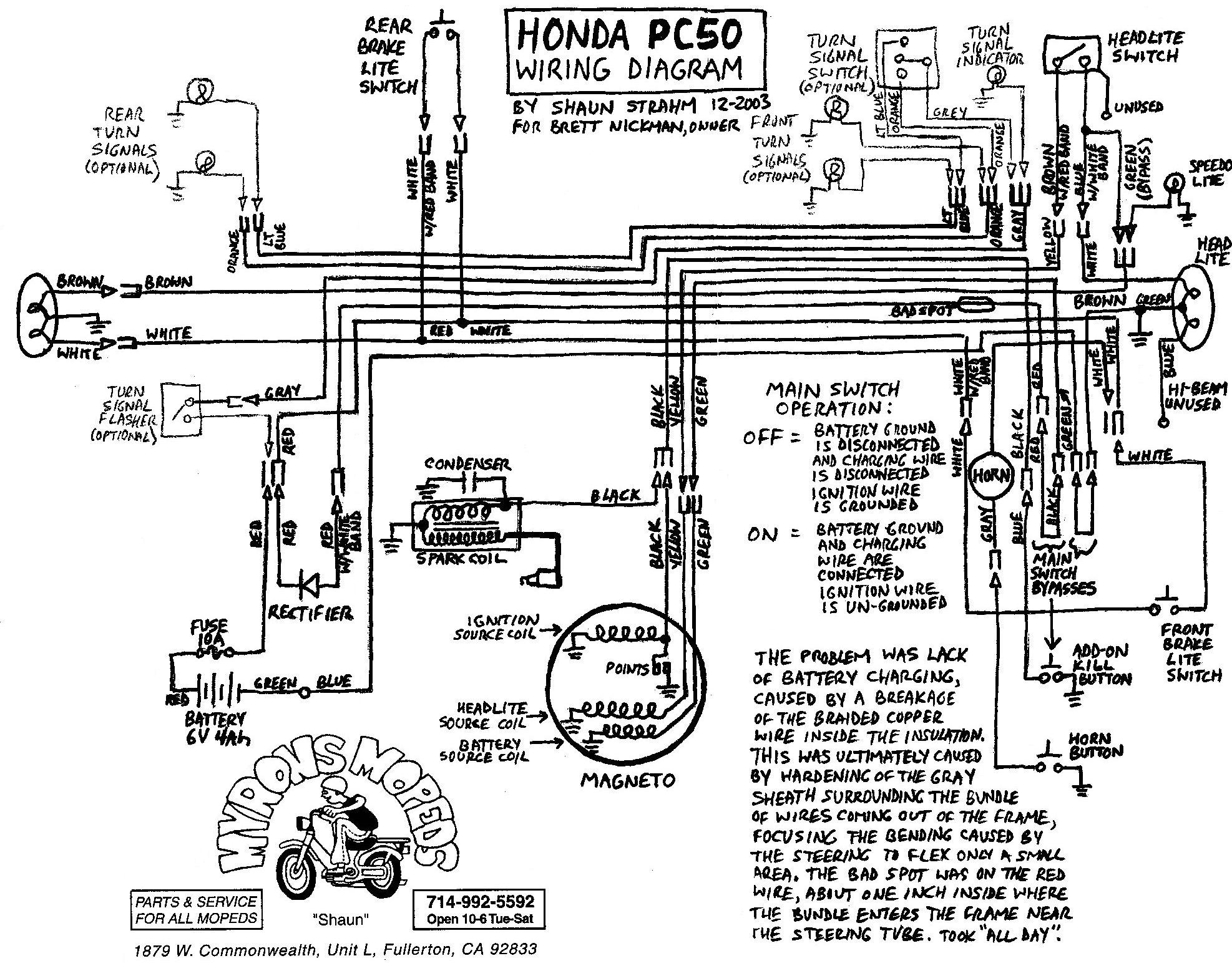 wiring diagram of honda xrm 125 wiring diagram of honda livo #5