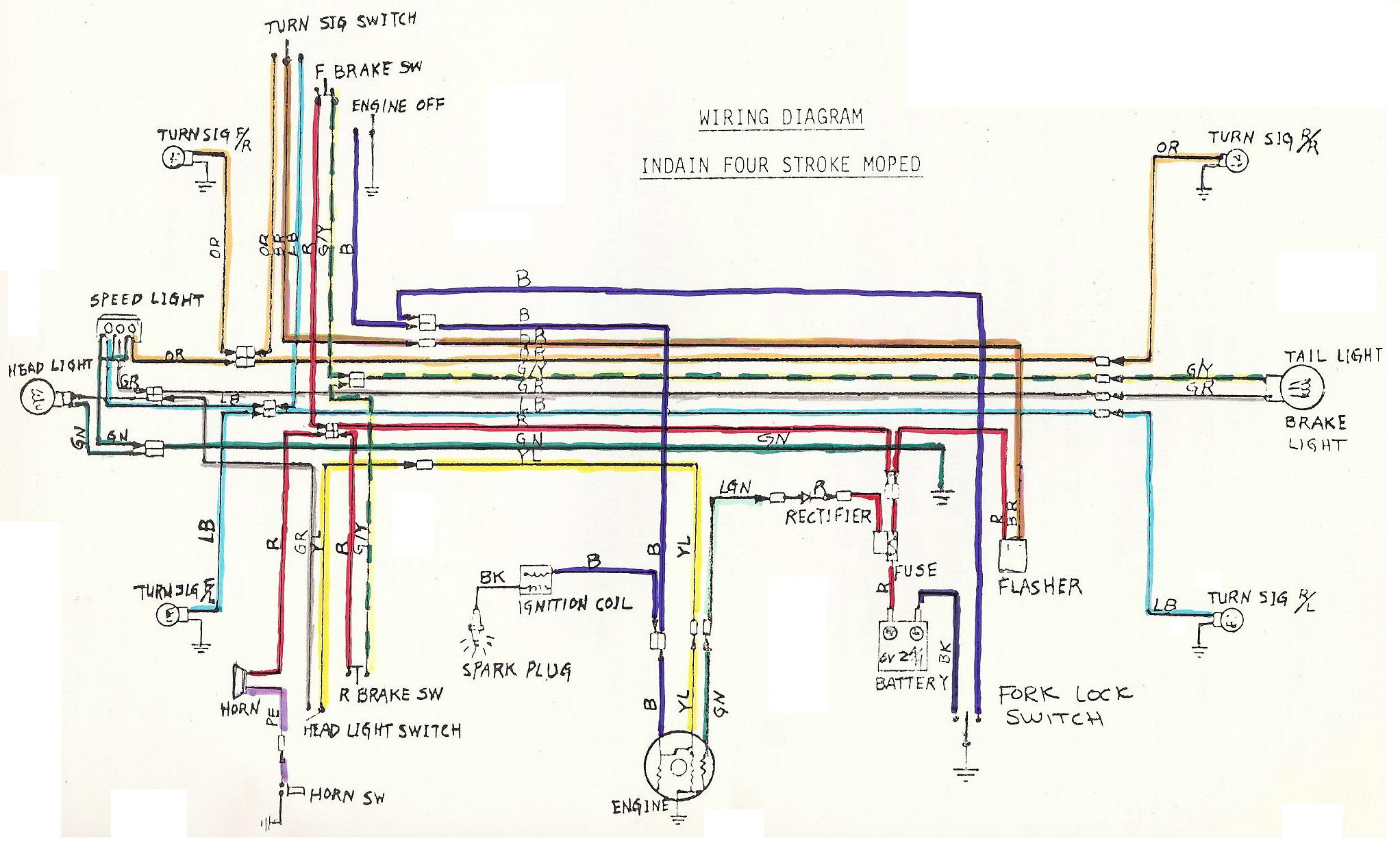 Vespa vo Moped Wiring Diagram | Schematic Diagram on