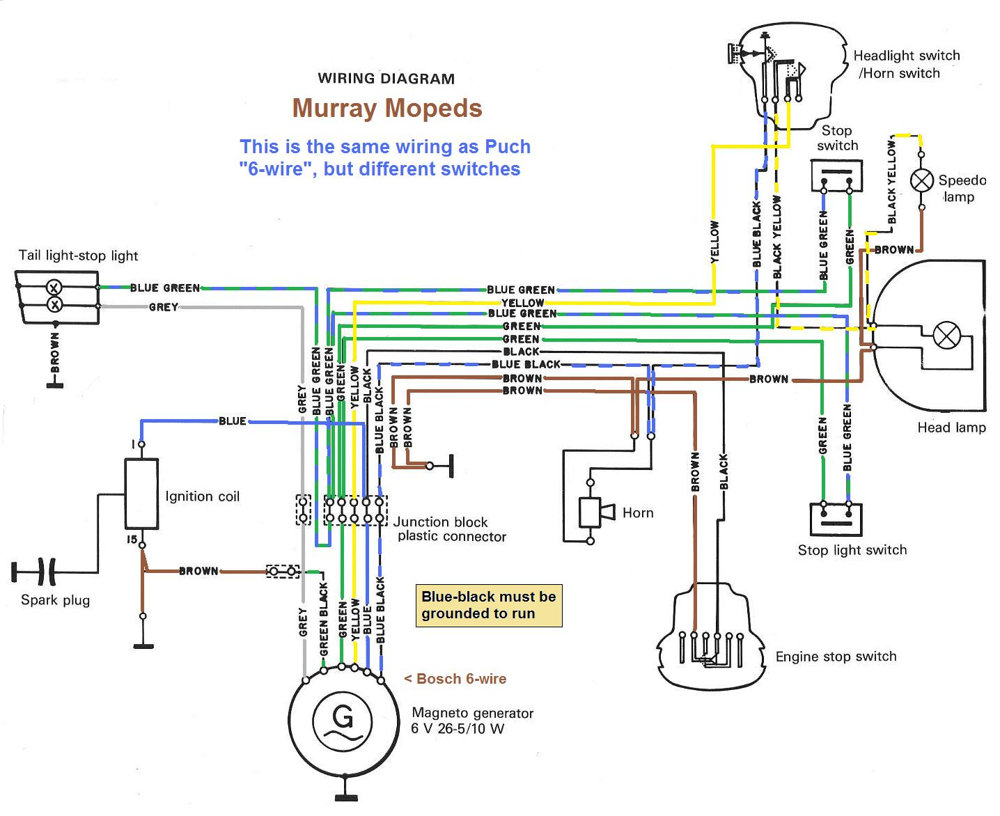 Murray 42544x8c Ignition Wiring Diagram | Wiring Diagram on murray carburetor linkage diagram, murray 46500x92a lawn tractor briggs stratton diagram for 1999, murray lawn tractor diode, murray tractor wiring diagram,