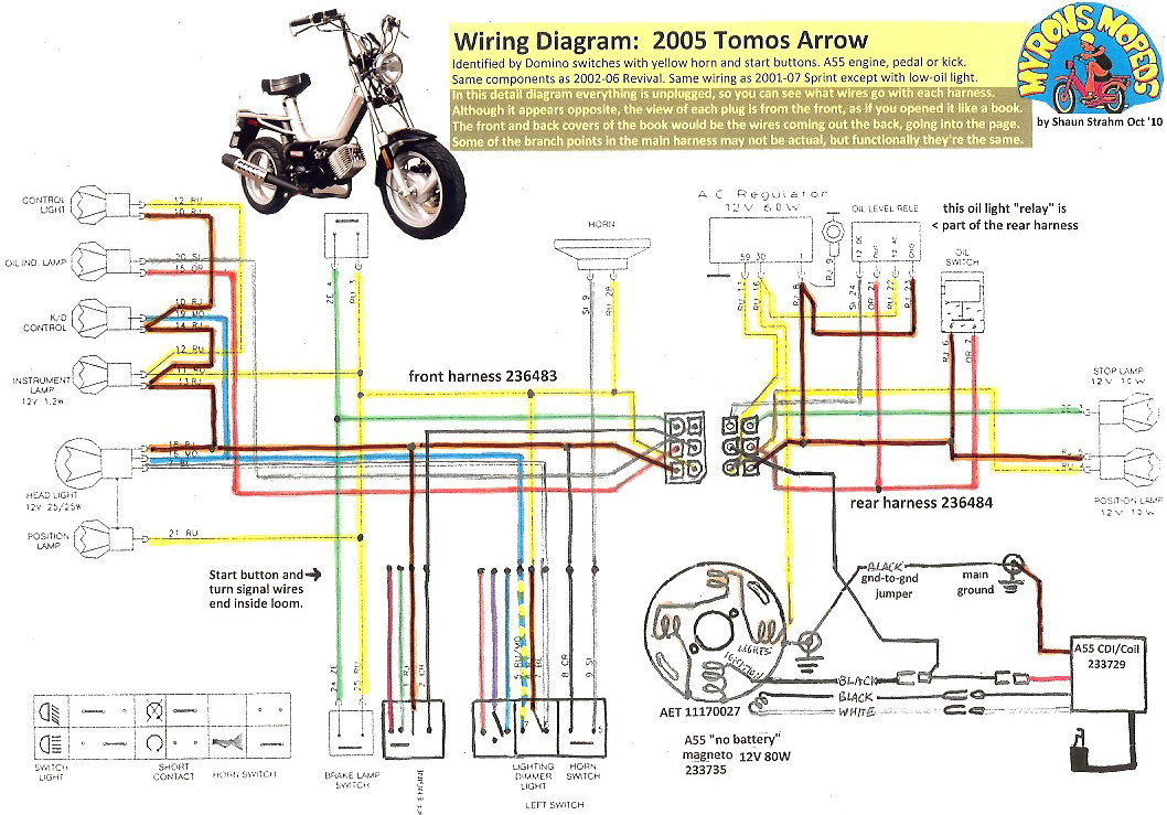 Tomos Wiring 2005 Arrow 100dpi tomos wiring diagrams myrons mopeds 49Cc Scooter Wiring Diagram at bakdesigns.co