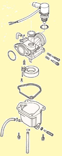 Keihin (1985-87 Honda NM50) carburetor illustration