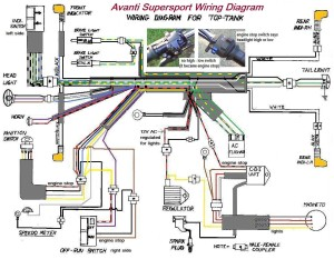 wiring diagrams  myrons mopeds avanti supersport top tank wiring