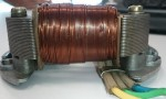 Indian WTEMCO 2-coil magneto top view of lighting armature