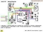 Jawa 210 Wiring for turn signal model