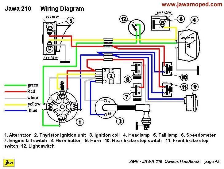 Wiring Diagrams  U00ab Myrons Mopeds