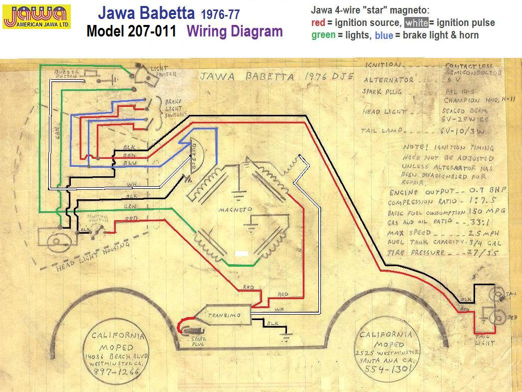 Jawa-tta-1976-Wiring-by-California-Moped Jawa Moped Wiring Diagram on puch moped wiring diagram, tomos moped wiring diagram, kinetic moped wiring diagram, sachs moped wiring diagram,