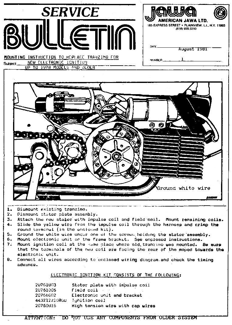 Jawa-Service-Bulletin-Aug-1981 Jawa Moped Wiring Diagram on puch moped wiring diagram, tomos moped wiring diagram, kinetic moped wiring diagram, sachs moped wiring diagram,