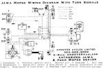 Jawa Wiring Diagram for turn signal model