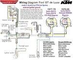 wiring diagrams  myrons mopeds ktm us model foxi cev or motoplat magneto external ignition ground