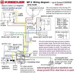 wiring diagrams acirc myrons mopeds kreidler mp9 early up to frame 2409540 bosch 3 wire magneto external ignition