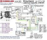 Kreidler MP9 (late) from frame 2409541 Bosch 3-wire magneto internal ignition ground