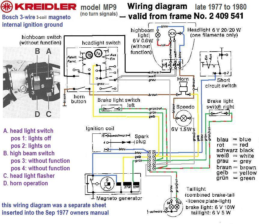 bosch magnetos myrons mopeds rh myronsmopeds com Light Switch Wiring Diagram Cat 6 Wiring Diagram