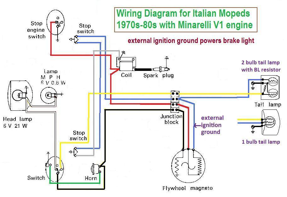 moped ignition wiring diagram wiring « myrons mopeds