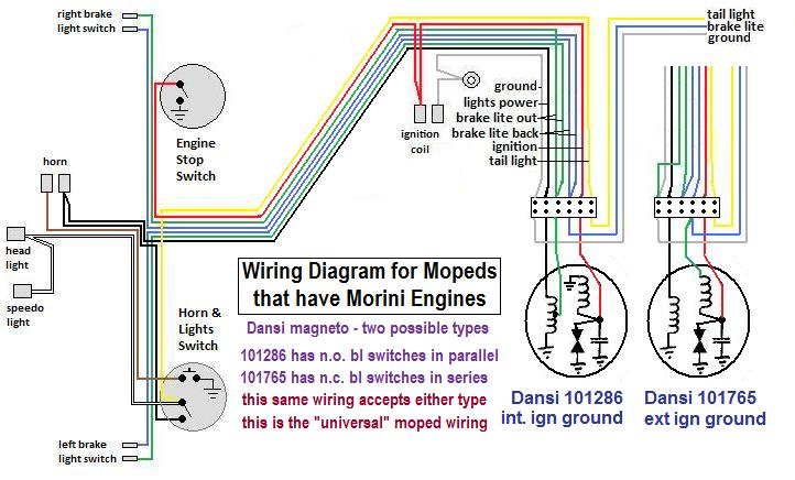john deere 265 ignition wiring diagram wiring diagrams « myrons mopeds moped ignition wiring diagram