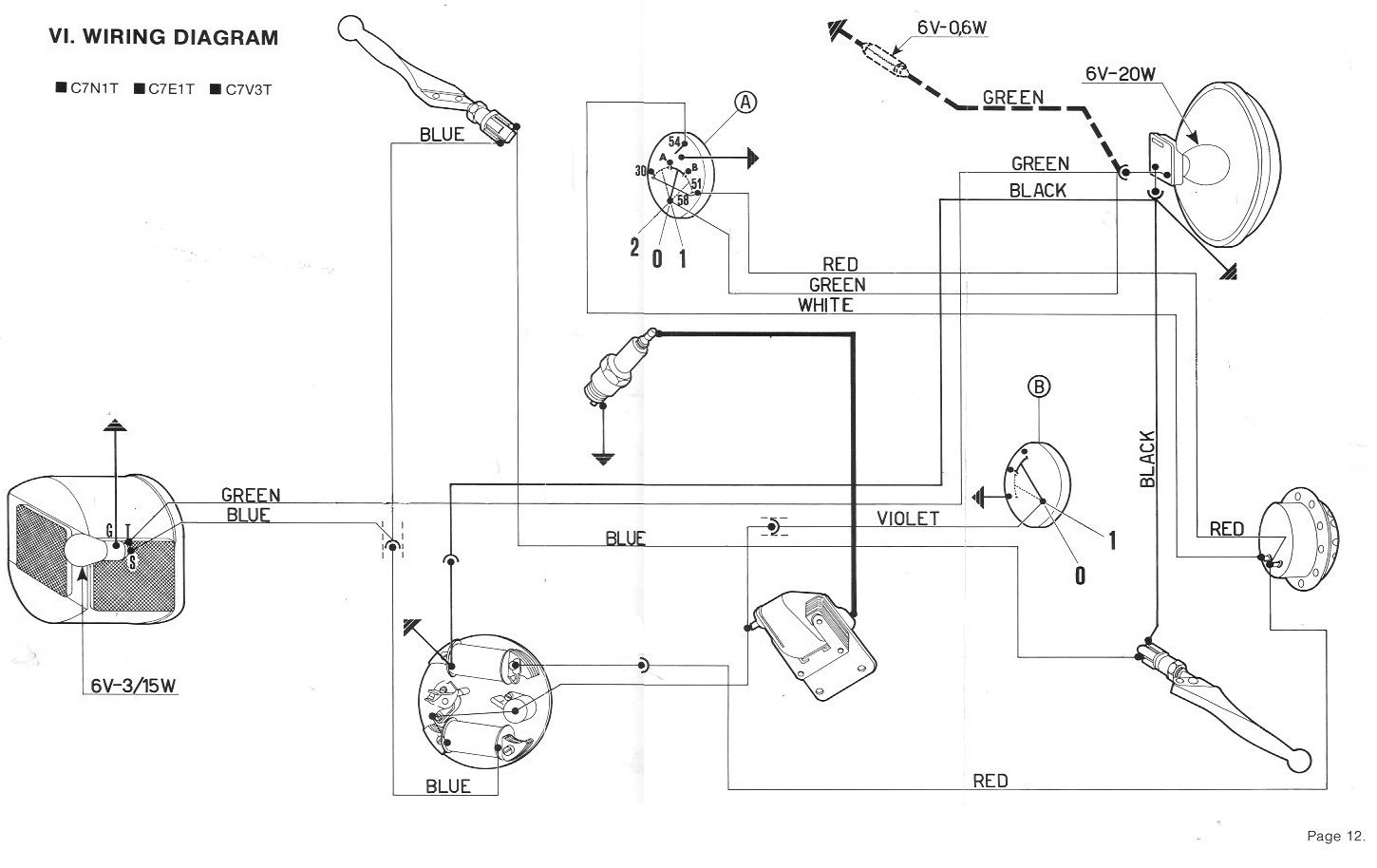 Vespa Wiring Diagram Page 4 And Schematics Free Electrical U00ab Myrons Mopeds Basic Diagrams Symbols