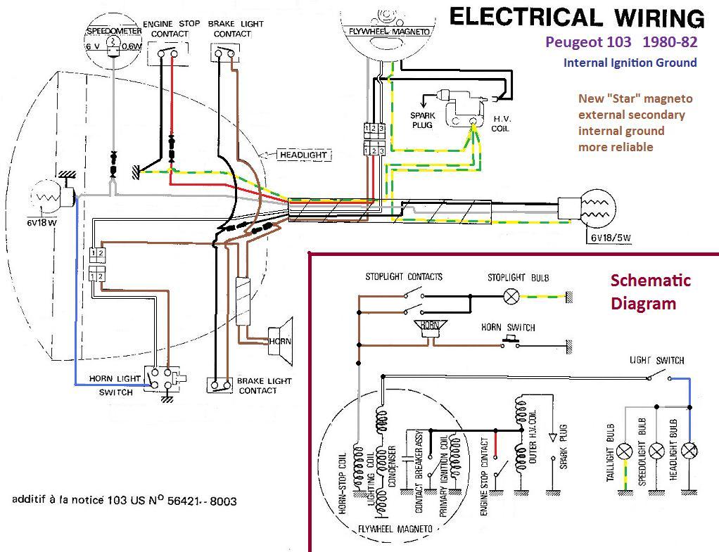 peugeot 102 wiring diagram    wiring       diagrams    myrons mopeds     wiring       diagrams    myrons mopeds