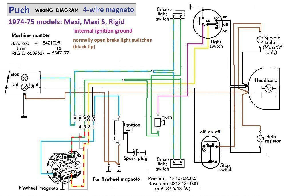 Re: 1976 PUCH MAXI WIRING HELP!!! ONLY FOUR WIRES!!! [by pdcomm ...