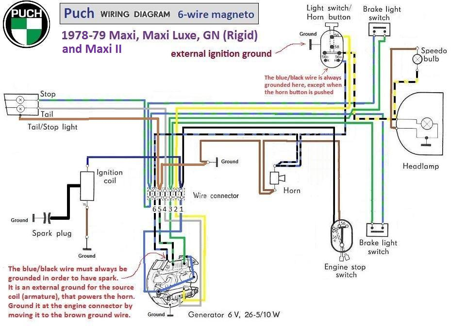 similiar magneto wiring keywords puch wiring diagram 1978 79 6 wire magneto chrome switches