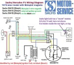 Sachs Westlake,Sundancer 1978-later Sachs 504/1D,1A,1B Motoplat 3-wire magneto external ignition ground
