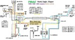 Trac 1985-86 Clipper,Eagle,Hawk Dailim M56 Engine Bosch 3-wire magneto external ignition ground
