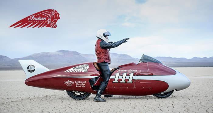 "Roland Sands new Indian  streamliner ""The Spirit of Munro"""