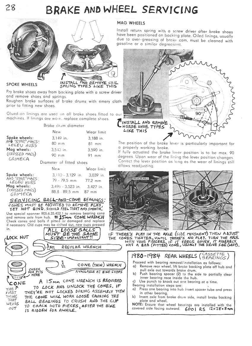 Brake Service Myrons Mopeds 1978 Puch Wiring Diagram