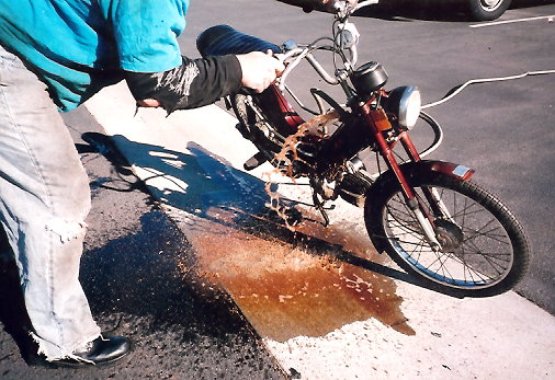 Gas Tank Cleaning « Myrons Mopeds