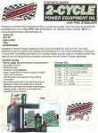 Myrons favorite two stroke oil. For premix or injector.