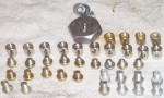 Domed and regular 5mm pinch bolts with 8mm barrels