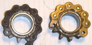 Motobecane front sprockets without rubbers.