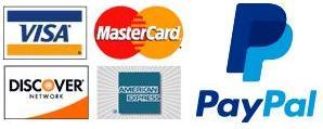 Visa MC Discover Amex PayPal
