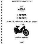 1988 Jawa Parts List cover