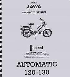 Jawa Automatic 120-130 Parts Book