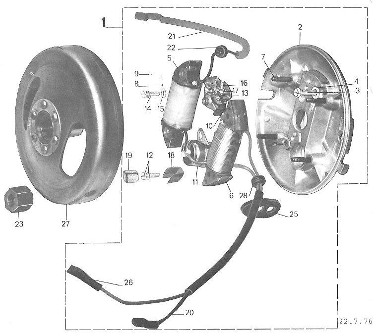 Peugeot 103 1976 79 Magneto Parts peugeot ignition upgrade myrons mopeds 1977 puch maxi wiring diagram at gsmx.co