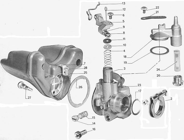 Peugeot Carb Exploded View