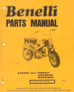 1972 Benelli Dynamo 65cc Parts Manual