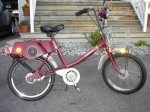1978 AMF All Pro Model 120 ? red w/lite grey fenders 20 mph, 1.0 hp, 72 lbs