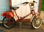 1979 Roadmaster XL orange w/white fenders front suspension, speedometer
