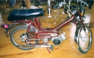 1980 Columbia Commuter tube frame, Peugeot 102 engine