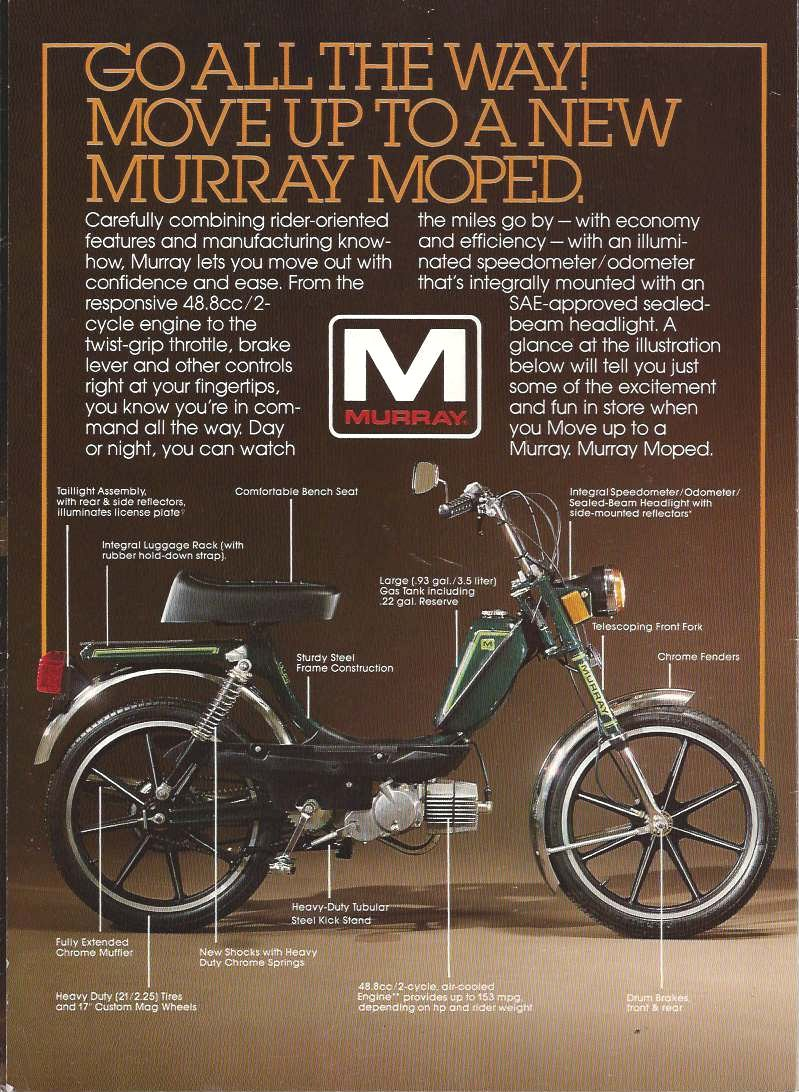 1980 Murray Brochure 2 murray parts myrons mopeds  at bakdesigns.co