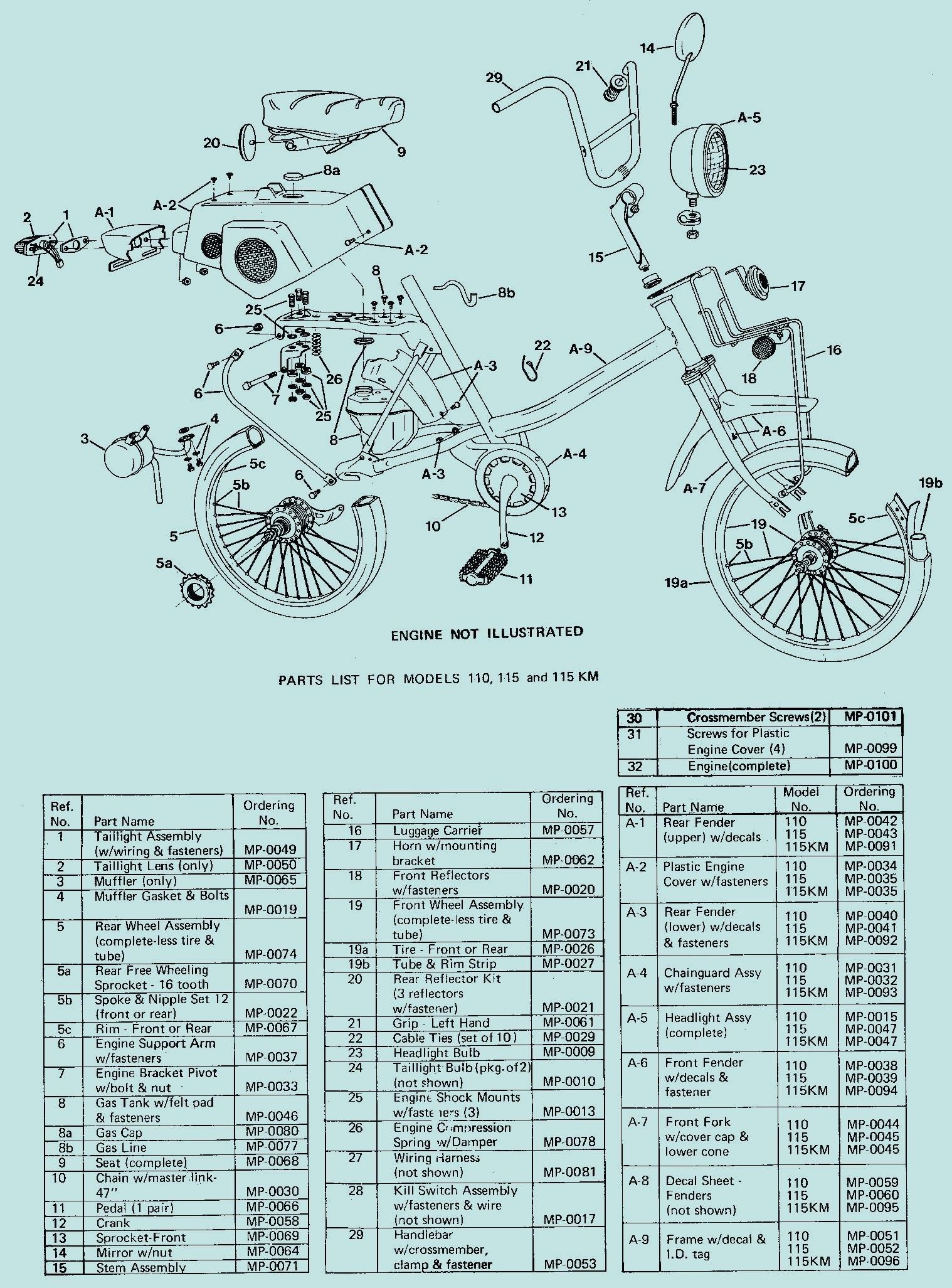 Amf Parts  U00ab Myrons Mopeds