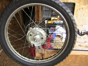 AMF 140 rear wheel