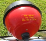 "AMF 110/115 head light says ""Ride Carefully"" ""1 hp 20 mph"" ""max rider wt. 215 lbs"""