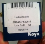 Colombia (Solo) front pulley needle bearing TR0414P520518 made in USA by Koyo