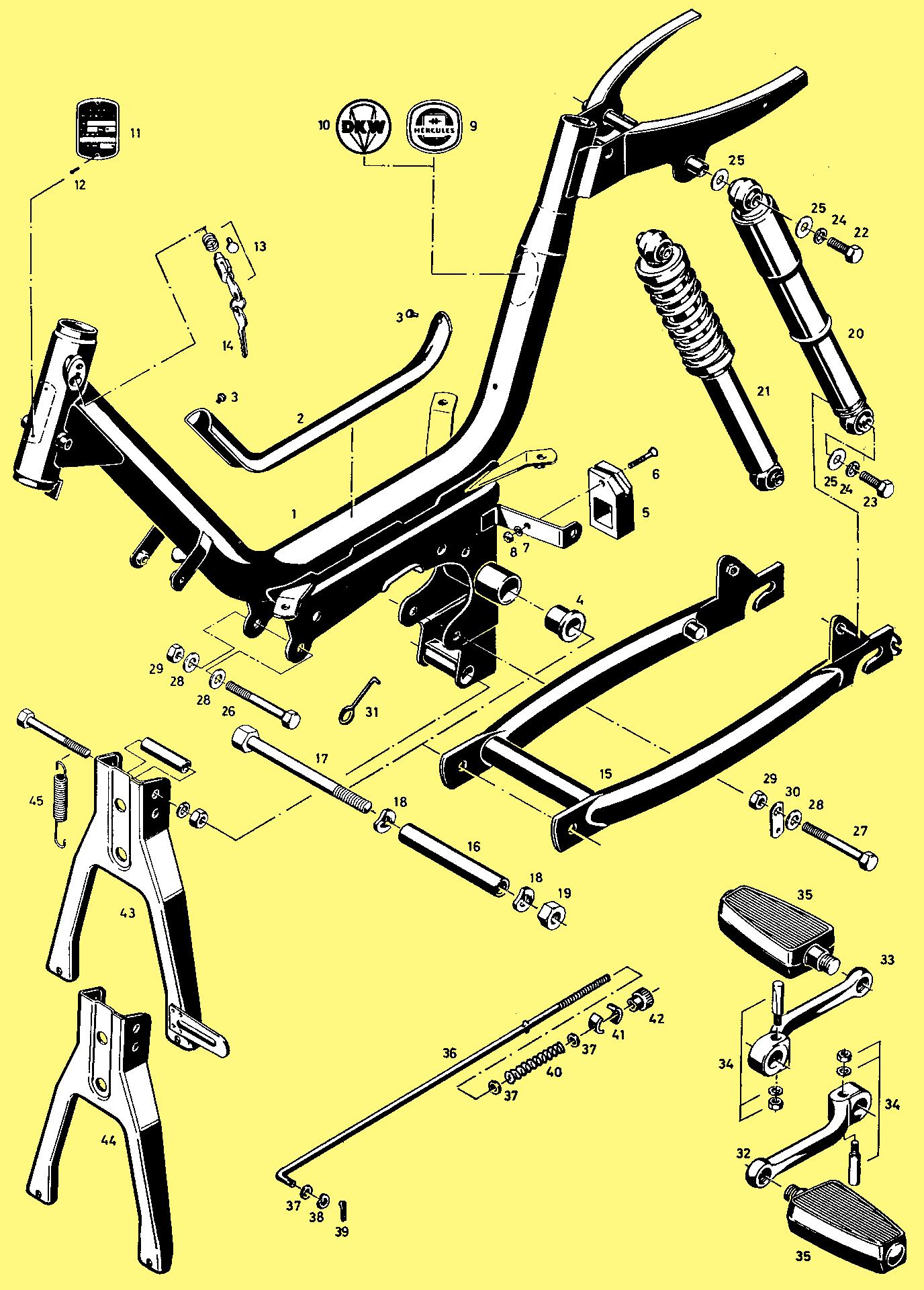 Hercules 2000 Wiring Diagram Schematic Diagrams 2080 Lathe Parts Myrons Mopeds Circuit